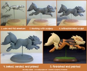 The Making of Arcanine by emilySculpts