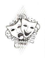 Drama Masks by so-aesthetic