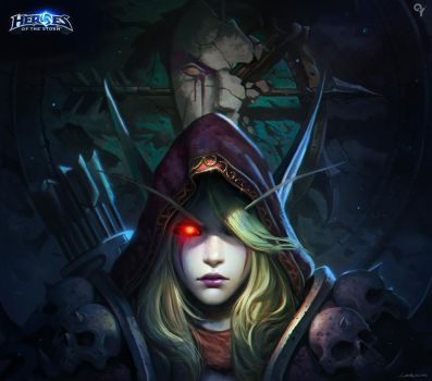 Heroes of the storm-Sylvanas Windrunner by Liang-Xing