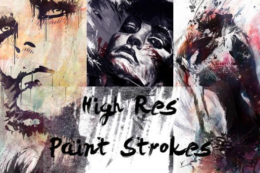 HighRes Paint Strokes: Set III by Raekre