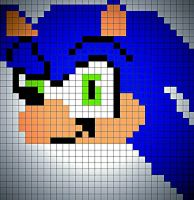 pixel sonic by Clemontiscute123