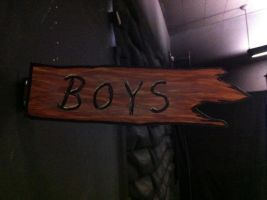 'Boys' Sign for Straight Camp by tubanome