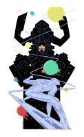 Galactus and Silver Surfer by Andrew-Ross-MacLean