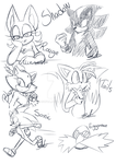 Sonic doodles by Sofua
