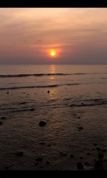 Sunset on Patong beach by YoungASS