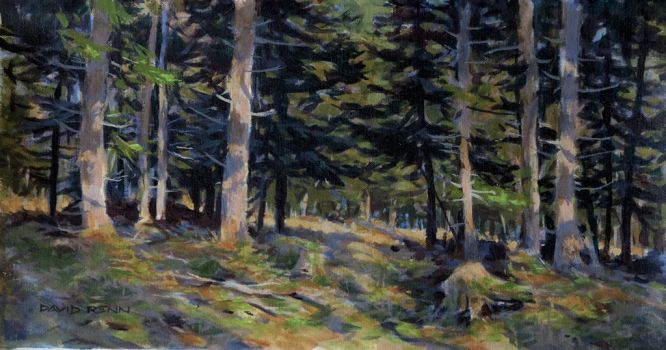 Forest-painting by postapocalypsia