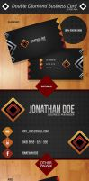 Double Diamond Business Card Template by odindesign
