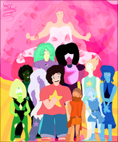 We are the Crystal Gems V.3 by FaridCreator