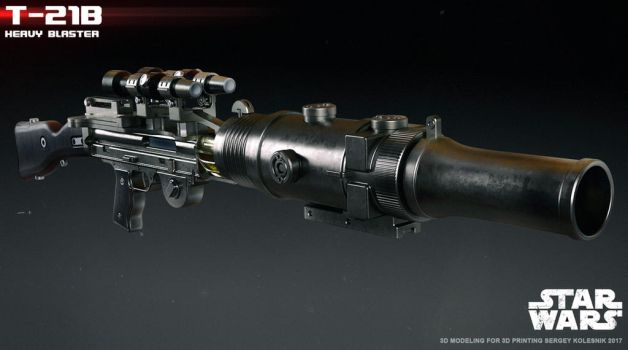 T-21B heavy blaster by ksn-art