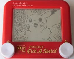 Pikachu etch a sketch by pikajane