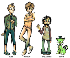 Character Line-up by starblinx