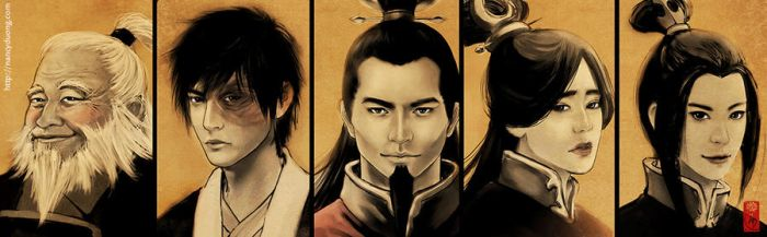 ATLA - Fire Nation Family II by lilsuika