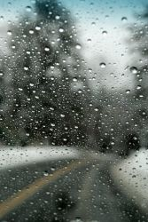 Driving in a Rain Storm by AlisonMarieDoty