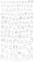 Hair Styles Sheet (110 Styles) by theworldisbehindus