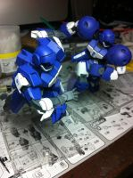 HG 1/144 Team Woolf unit 1 and 2 by BazSg