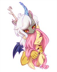 Eris and Fluttershy by JumbleHorse