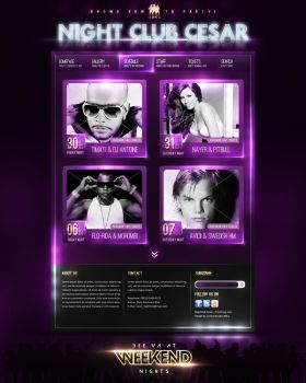 Night Club Cesar, Web design by camber-design