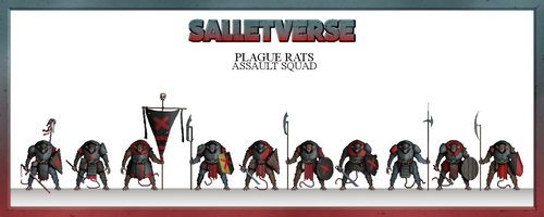 Plague Rats Assault Squad by CountGooseman
