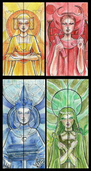 4 Powers bookmarks by Verbeley