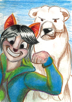 Bestest Buddies ACEO by TweedPawn