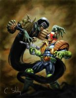 Dredd v Death 01 (Greg Staples) by pagandevil