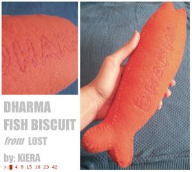 DHARMA Fish Biscuit Plushie by chromageist