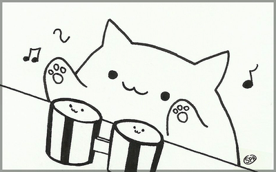 Bongo Cat | Inktober Day 2 by SpanishPandaHero