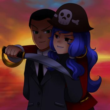 Pirate and Agend unfinished by Jacky-Bunny
