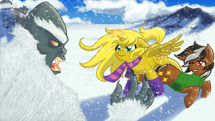 Ticket And Star Sparkler Fight A Yeti by NaomiKnight17