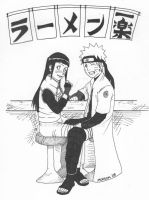 NaruHina - Dinner at Ichiraku by otokage87