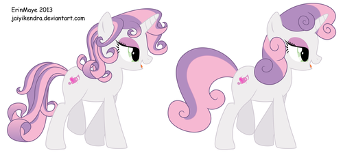 Sweetie Belle Grown Up Comparison by NeysaNight