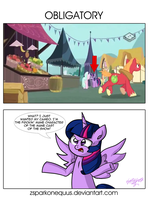 Extra Comic: Obligatory by ZSparkonequus