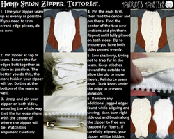 Hand sewn zipper tutorial by fenrirschild