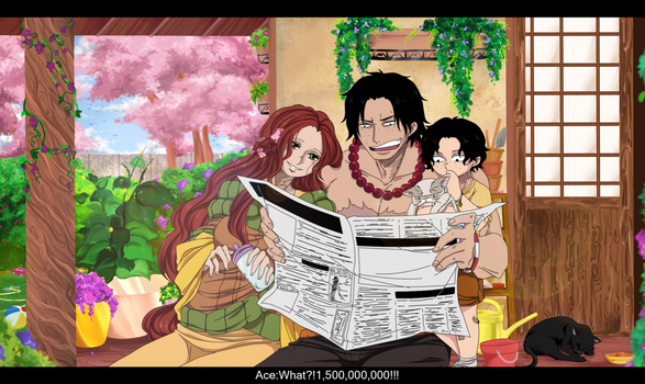 Ace and Hatomi. News about Luffy. by HatoChan19