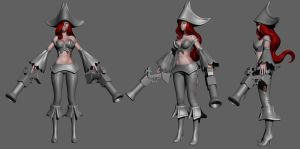 League of Legends: Miss Fortune Wip 5 by HazardousArts