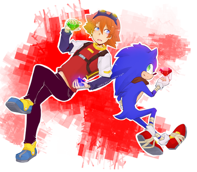 Chris and Sonic Boom by keary