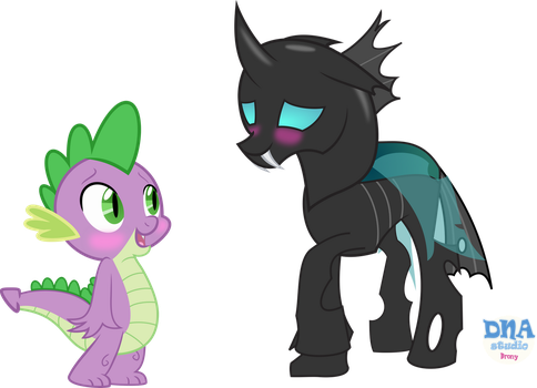 spike and changeling waifus DNA by Meyling525