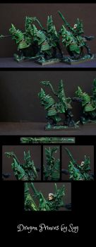 High elves Dragon princes painting by Syg-Majji