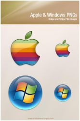 Apple and Windows PNGs by javierocasio
