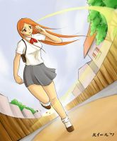 orihime inoue in action by louielu