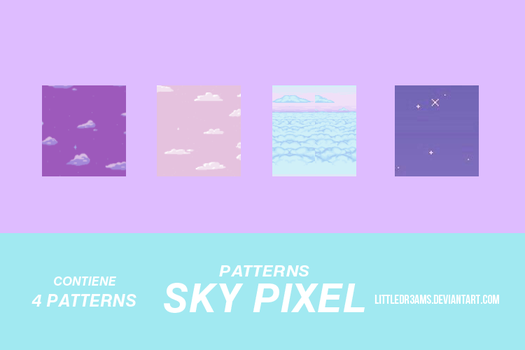 SKY PIXEL - PATTERNS by LittleDr3ams