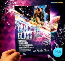 PSD Dance on Glass Party Flyer by itscroma