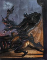 batman vs catwoman by moritat