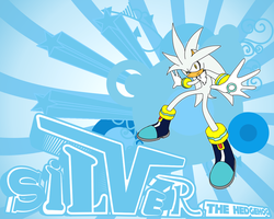 Silver The Hedgehog Wallpaper by cumeoart