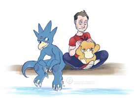 Justin's Water Pokemon - Psyduck and Golduck