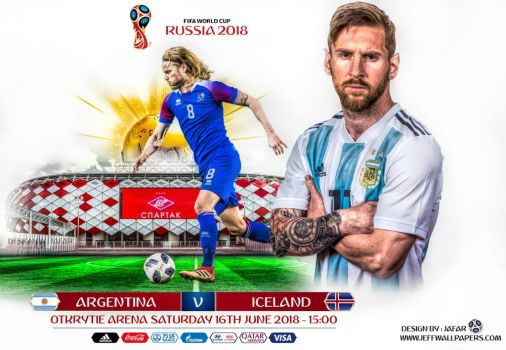 ARGENTINA - ICELAND WORLD CUP 2018 by jafarjeef