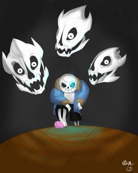 Sans and his Gaster Blasters by CowDemonOfficial