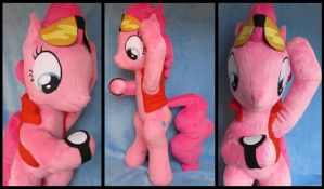''TIME TRAVEL?!'' - Pinkie McFly plushie! by Jillah92