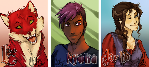 Badges commission - Set 1 by WildEllie