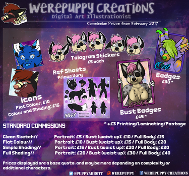 Price Sheet Feb 2017 by Werepuppy